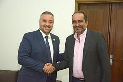 Visita do embaixador do Canadá