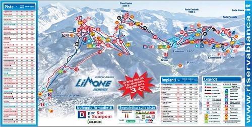 Limone Piemonte - mapa sjezdovek