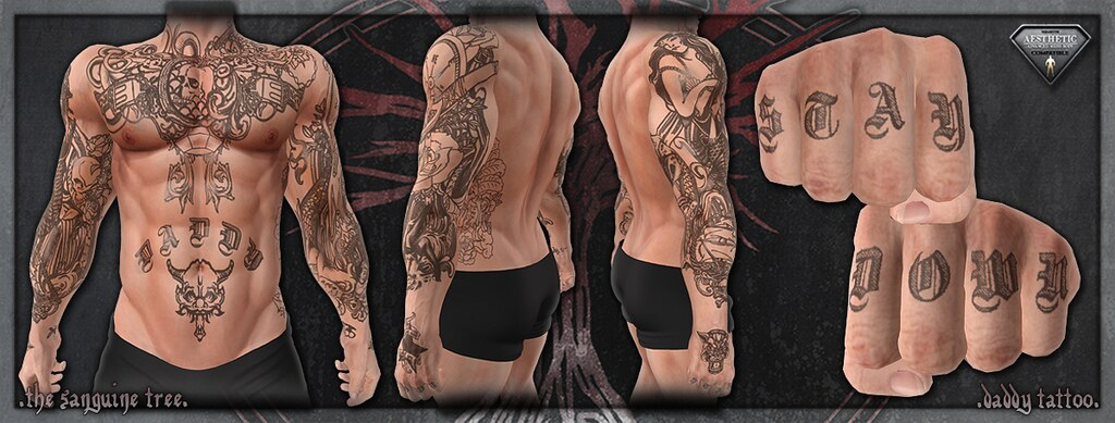 [ new release - aesthetic daddy tattoo ] - SecondLifeHub.com