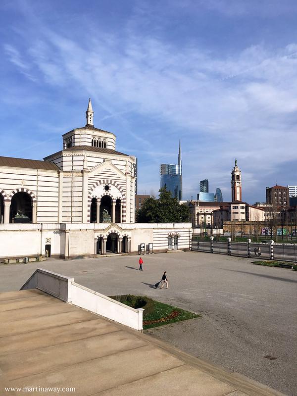 Zona Garibaldi vista dal Cimitero Monumentale di Milano