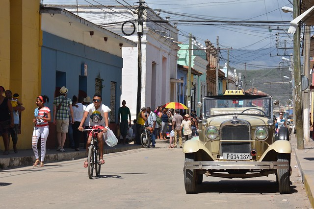 Ford Model A in the street of Trinidad