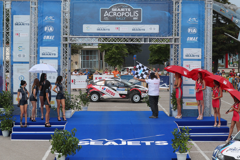 02 KAJETANOWICZ Kajetan (pol) and BARAN Jaroslaw (pol) action podium  during the European Rally Championship 2017 - Acropolis Rally Of Grece - From June 2 to 4 - Photo Gregory Lenormand / DPPI