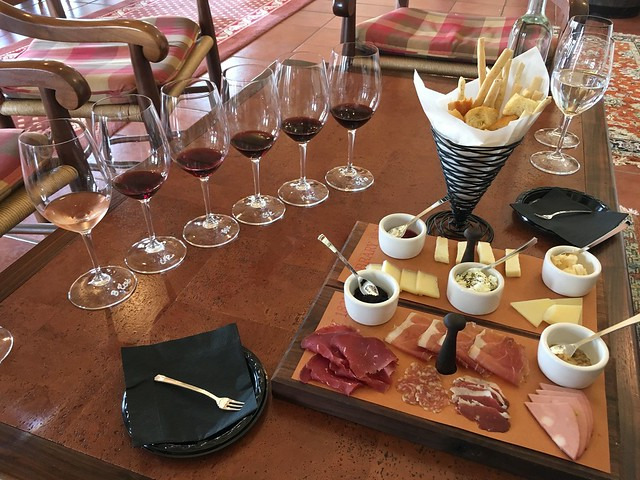 Charcuterie, cheeses, and wine - Barboursville Vineyards