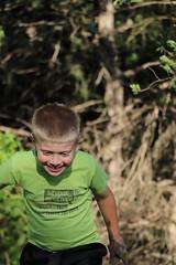 """OK, mud pile!  Here I come!"""