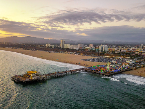 santamonicapier santamonica california unitedstates us dji mavicpro drone seascape ocean city losangeles aerialphotography view