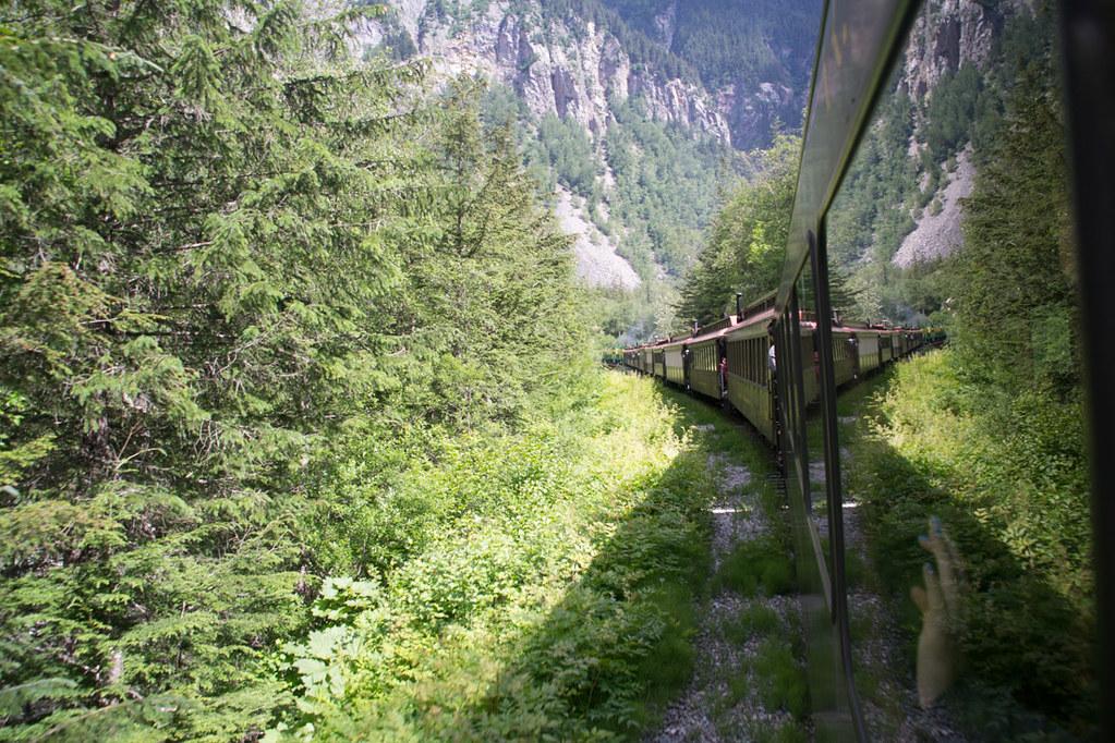 Train beginning its climb to White Pass Summit