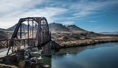Guffey Bridge w/Guffey Butte Background