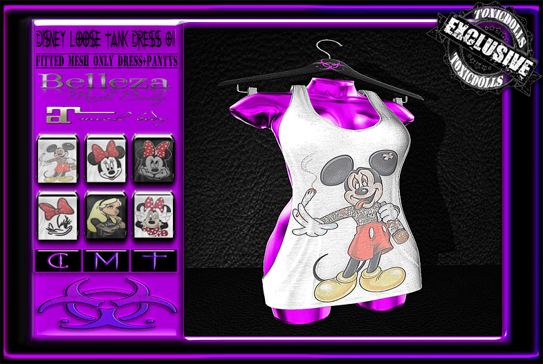 [TD] Disney Loose Tank Dress 02 - SecondLifeHub.com