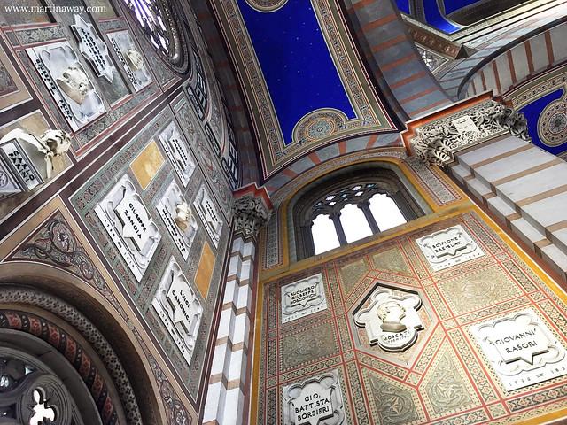Interno del Famedio del Cimitero Monumentale di Milano