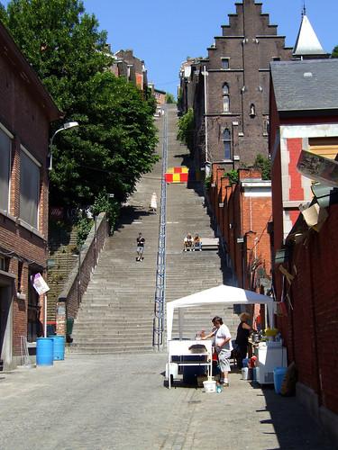 Montagne de Bueren in Liège