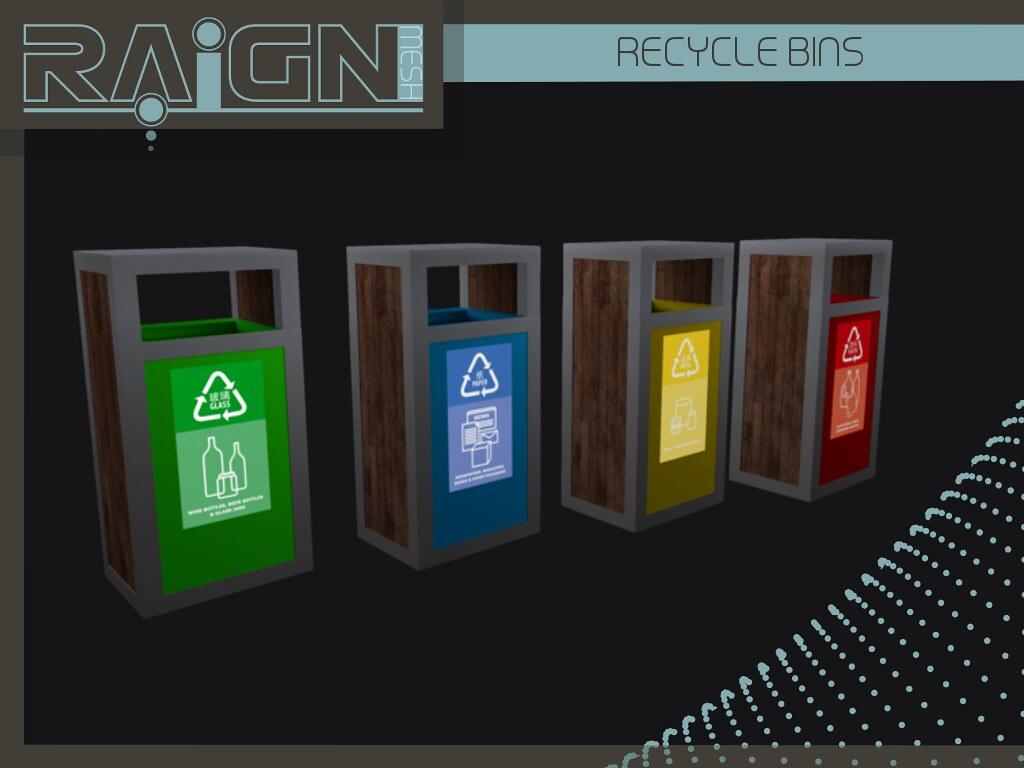 ::RAIGN:: Recycle Bins Set - SecondLifeHub.com
