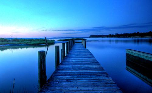 potomac river sunrise dock