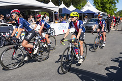 USA National Team before the start of Stage 3 in Elk Grove