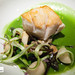 Tilefish, Chilled Asparagus Broth, Kombu and Clams