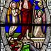 Lea, St Helen's church, window detail,