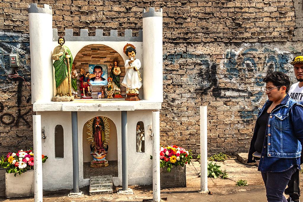 Death shrine in Tepito--Mexico City