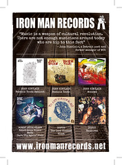Iron Man Records Discography Advert 148x105mm With Cut Marks