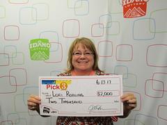 Lori Robling - $2,000 - Pick 3 - Nampa - Jacksons Food Stores