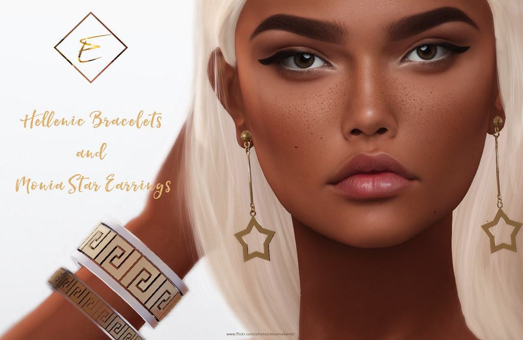 [Enchante'] Hellenic Bracelets and  Monia Star Earrings @Tres Chic - Grecian - SecondLifeHub.com