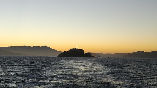 Alcatraz Sunset Silhouette