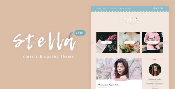 Stella v1.0 – Classic & Sweet Blogging Theme