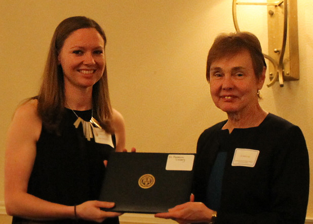 Rebecca Lowery (Neuroscience) recipient of the Vincent du Vigneaud Award with Edith Lord, Senior Associate Dean for Graduate Education
