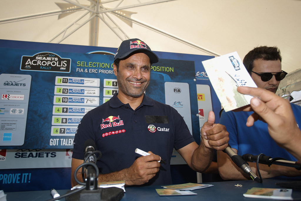 AL ATTIYAH Nasser (qat) ambiance portrait during the European Rally Championship 2017 - Acropolis Rally Of Grece - From June 2 to 4 - Photo Gregory Lenormand / DPPI