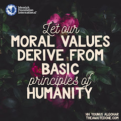 Quote of the Day: Let Our Moral Values...