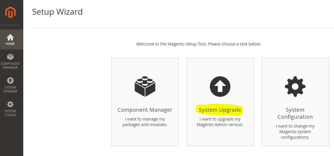 Upgrade Magento 2.x