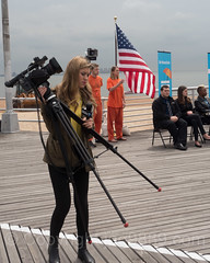 NY1 News Reporter Lindsay Tuchman, Ceremonial Beach Opening, South Beach Boardwalk, Staten Island, New York City