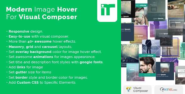 Modern Image Hover Effects WordPress Plugin free download