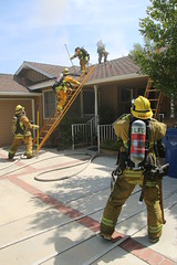LAFD Battles Attic Fire in North Hills Home