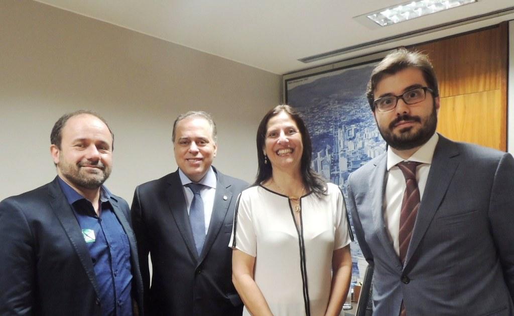 17 05 2017 - Oliveira -Cristine Rezende, Rodrigo Sérgio Dias, Funasa Presidente