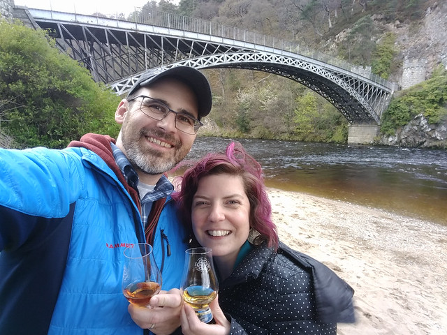 having a dram under the Craigellachie Bridge