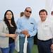 Nicole Tapia y Pedro Tapia, de Hidropex, junto a Raúl Uribe, gestor de Negocios de Swanson Industries Chile