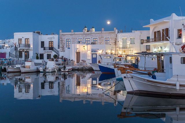 Evening at Naousa, Paros