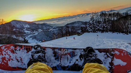 snowboarding snow japan sunset board skiing colors trees shiga kogen nexus 6p phone photography beautiful beauty