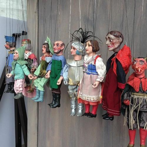 マリオネットたち。 #チェコ人形劇 #日本におけるチェコ文化年
