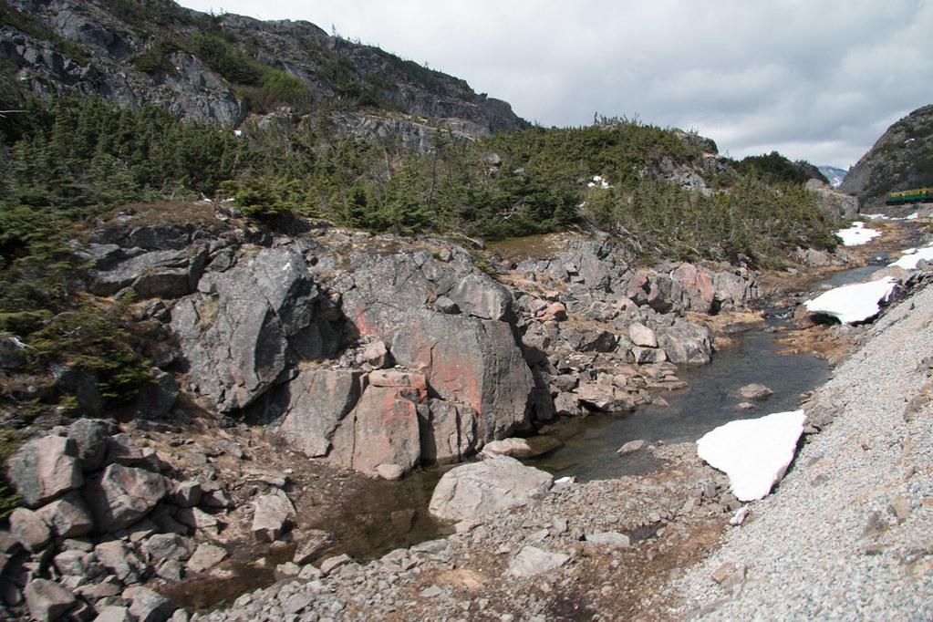 Top of White Pass Summit near Skagway   White Pass and Yukon Route Railway