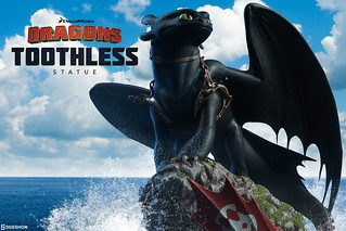 Sideshow Collectibles 馴龍高手【沒牙】How to Train Your Dragon Toothless 雕像作品