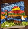Geometria innaturale: mosaico 1m x 1m inregolare