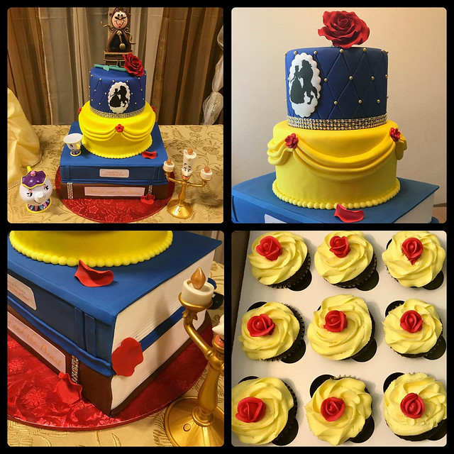Beauty and the Beast Themed Cake by Isue D. Burgos of Sue's Creations