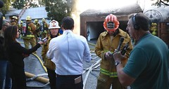 Fire Consumes 5 Story Hillside Home in Pacific Palisades