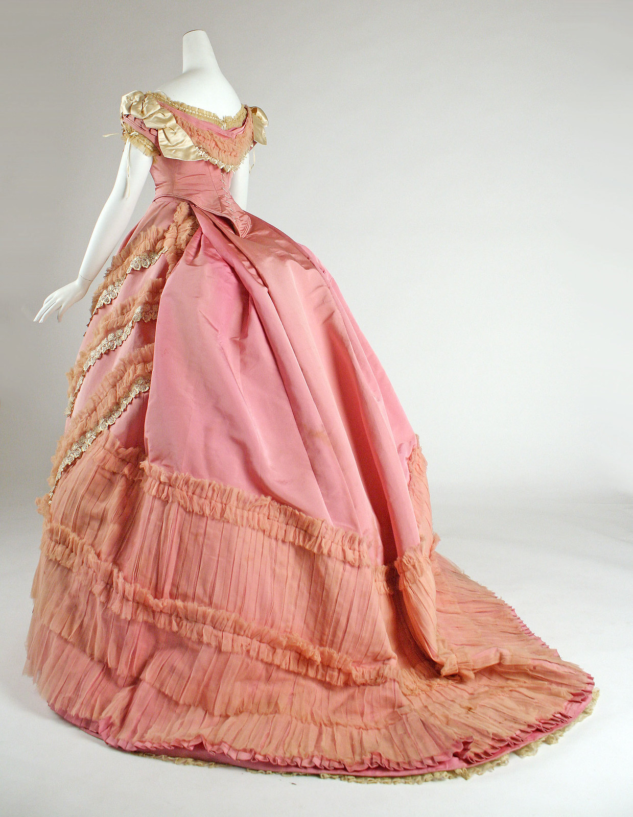 1868 Ball gown. French. Silk. metmuseum