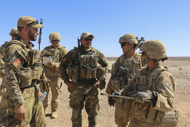 First Team Troopers train with multinational partners