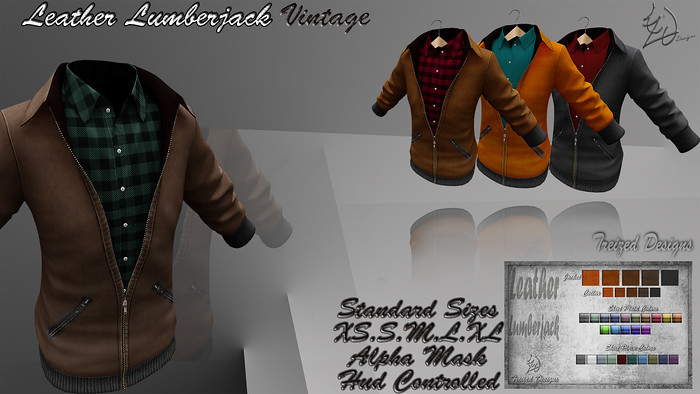 Treized Designs Leather Lumberjack Vintage - SecondLifeHub.com