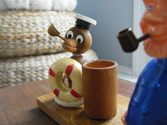 monkey sailor toothpick holder