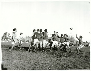 Poverty Bay, East Coast combined Rugby Team play the British Lions at Rugby Park, Gisborne