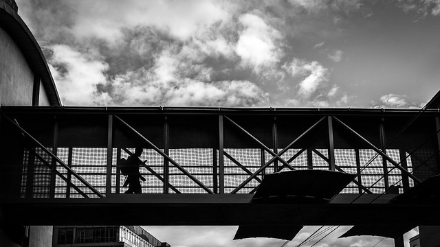 The commuter - Dublin, Ireland - Black and white street photography