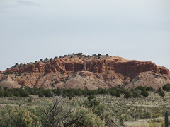 Red rock with a few hoodoos, Cottonwood Canyon Road near Cannonville, Utah
